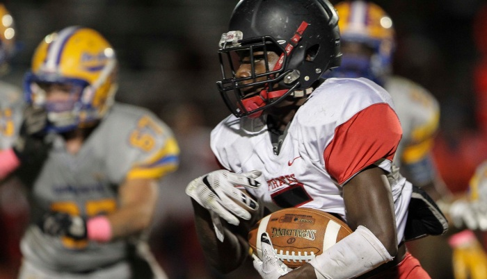 Port Charlotte running back Ernest Harvey will be asked to carry more of the offensive load in his senior season. Sun file photo by Tom O'Neill