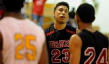 Port Charlotte's Sean Price reacts after missing a free throw in the final minutes of their game against Largo Tuesday, Feb. 16, 2016 in Largo. Port Charlotte lost 77-74. PHOTO BY CHRIS URSO
