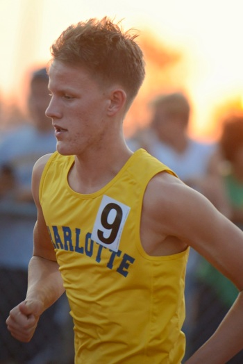 Charlotte's Marshall Dillon advanced to states in three events on Thursday. Sun photo by Jennifer Bruno