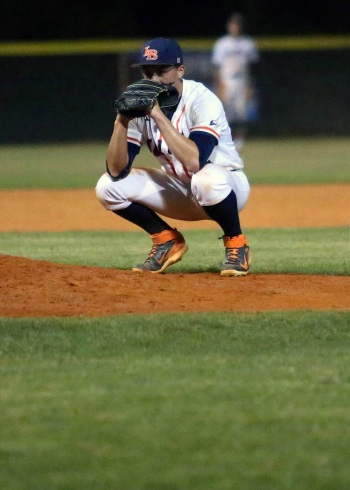 Lemon Bay's Jaryd Clary took the loss after Lakewood scored three runs in the seventh inning in Region 5A-3 quarterfinal victory. Sun photo by Tim Kern