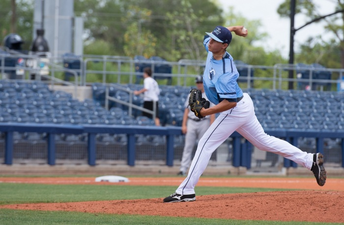 Stone Crabs right-hander Brent Honeywell, the Rays' No. 2 prospect, has an 0.73 ERA through four starts this season. Sun photo by Katherine Godina