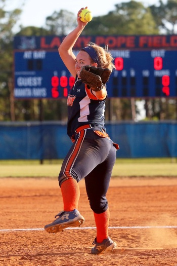 Lemon Bay's Logan Johnson has been a key performer for a Manta Rays team that lost its top two pitchers from last season. Sun photo by Tim Kern