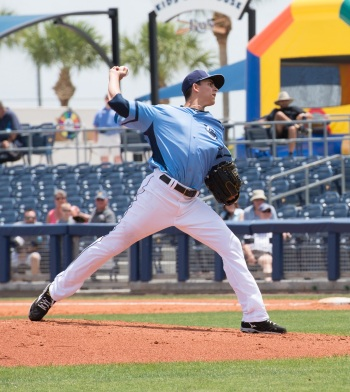 Stone Crabs right-hander Brent Honeywell, the Rays' No. 2 prospect, has an 0.98 ERA through six starts. Sun file photo by Katherine Godina