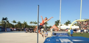 Lemon Bay's Ronnie Blem took fifth in the high jump. Sun photo by Bryan Levine