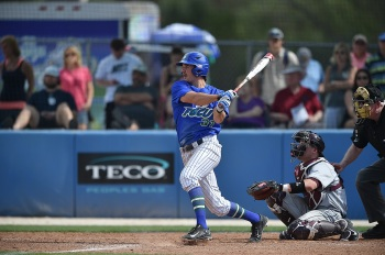 Jake Noll is hitting .372 with 12 home runs and 61 RBIs as a redshirt junior for FGCU. Photo provided by Rich De Pavia