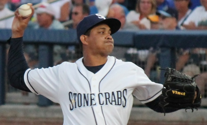 Stone Crabe right-hander Yonny Chirinos started and went six strong innings in Saturday's win. Sun file photo by Jim Donten
