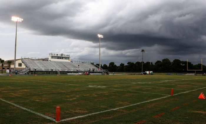 Inclement weather forced the Lemon Bay versus Port Charlotte rivalry to wait another day (Sun Photo by Tim Kern).