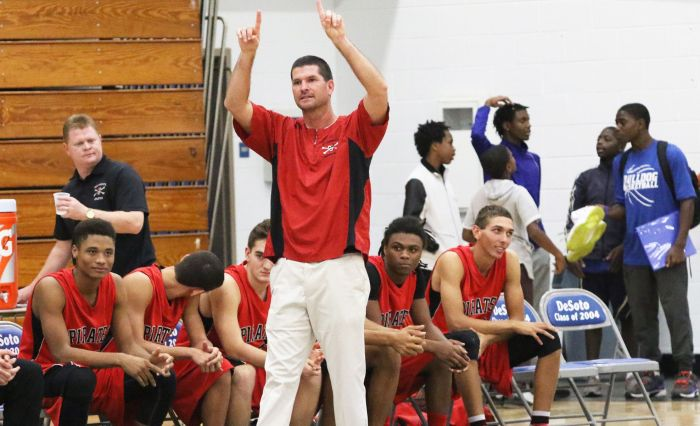 Port Charlotte's Head Coach Bill Specht captured his 400th career win Wednesday night as the Pirates beat DeSoto County (Sun Photo by Michele Haskell).
