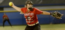 Port Charlotte's Alexis Carpenter delivers a pictch, during Friday night's game against DeSoto.